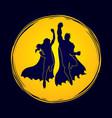 superhero man and woman jumping vector image vector image
