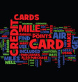 the air mile credit card text background word vector image vector image
