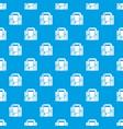 travel bag retro pattern seamless blue vector image vector image