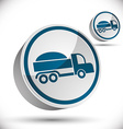 Truck 3d icon vector image vector image