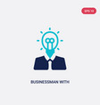 two color businessman with an idea icon from vector image vector image