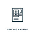vending machine icon monochrome style design from vector image