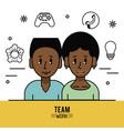 young business teamwork cartoon vector image vector image