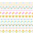 set of seamless baby ribbons vector image