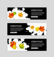 set of colorful autumn leaves banners vector image