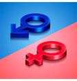 Woman and man symbols vector image