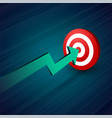 arrow moving towards target business concept vector image vector image