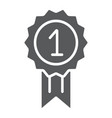award glyph icon badge and prize medal sign vector image vector image