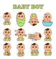 baboy set cute boys in vector image