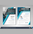 brochure layout design vector image vector image