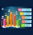 business growth infographics vector image vector image