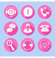 Call Center Support Icons Set vector image