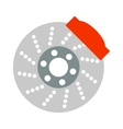 Car brake discs system spare part auto repair vector image