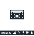 Cassette player icon flat vector image vector image
