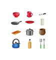 Cooking utensils icon set vector image vector image
