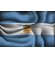 crumpled flag argentina vector image vector image