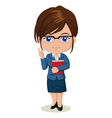 Cute cartoon of a teacher vector image