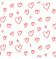 cute hand drawn hearts pattern vector image vector image