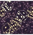 Dice seamless background pattern vector image vector image
