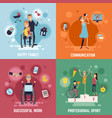 disabled people concept icons set vector image vector image