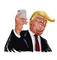 donald trump and social media cartoon vector image vector image