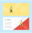 drink bottle abstract corporate business banner vector image