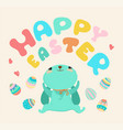 easter cute cartoon rabbit vector image