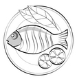 fish on a plate vector image