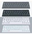 flat modern keyboard alphabet buttons vector image