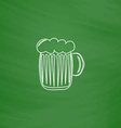 foamy beer computer symbol vector image vector image