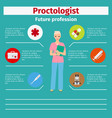 future profession proctologist infographic vector image vector image