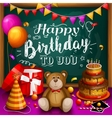 Happy birthday greeting card Colorful gift box vector image vector image