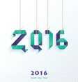 Happy New Year Card violet blue color vector image vector image