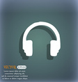 headsets icon symbol on the blue-green abstract vector image