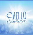 hello summer sea and the sun vector image
