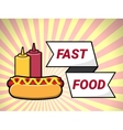 Hot dog fast food over vector image