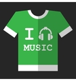 I love music icon vector image vector image