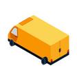 isometric logistics transportation vector image vector image