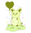kawaii cat image design vector image