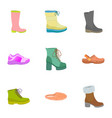 lady shoes icon set flat style vector image