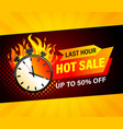 last hour hot sale banner vector image vector image