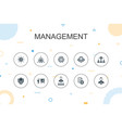 management trendy infographic template thin line vector image