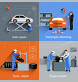 Mechanic Flat Set vector image