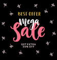 mega sale banner template vector image vector image