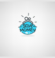 money saving doodle atr icon label emblem vector image