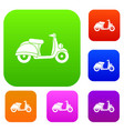 motorbike set collection vector image vector image