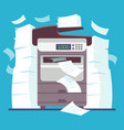 multifunction office printer computer scanner vector image vector image