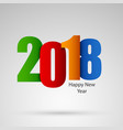 new year wishes with colored numbers design vector image vector image