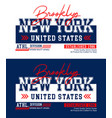 new york brooklyn t-shirt print and apparel design vector image vector image