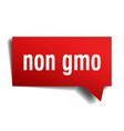 non gmo red 3d speech bubble vector image vector image